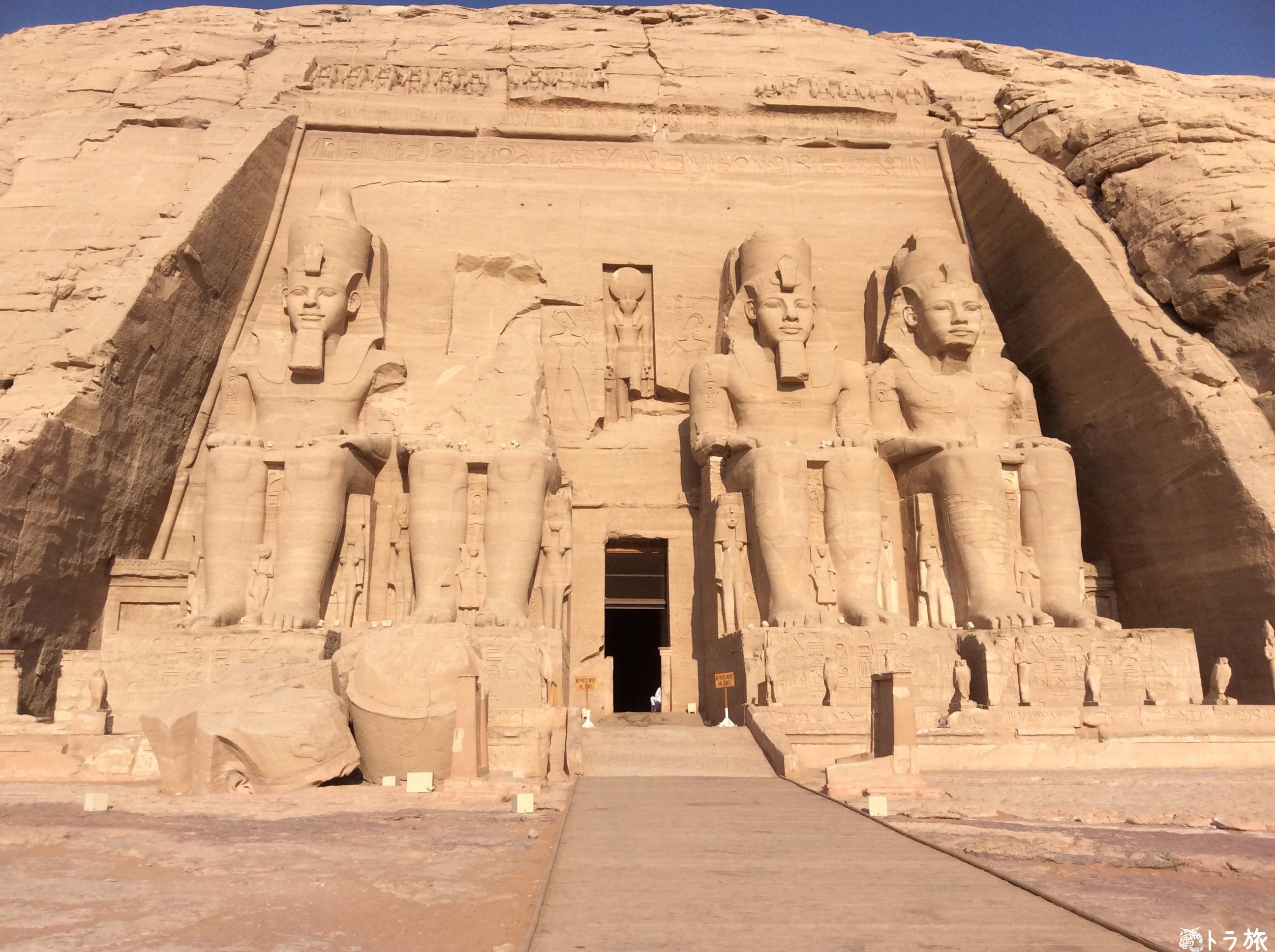 【アブシンベル】世界遺産のきっかけになったアブ・シンベル神殿へ行った【エジプト】